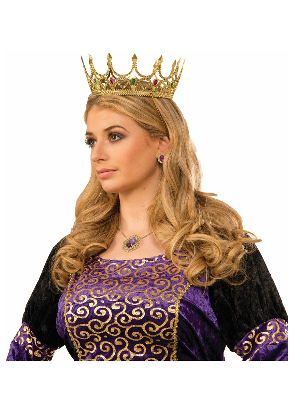 Royal Queen Crown Gold Accessories