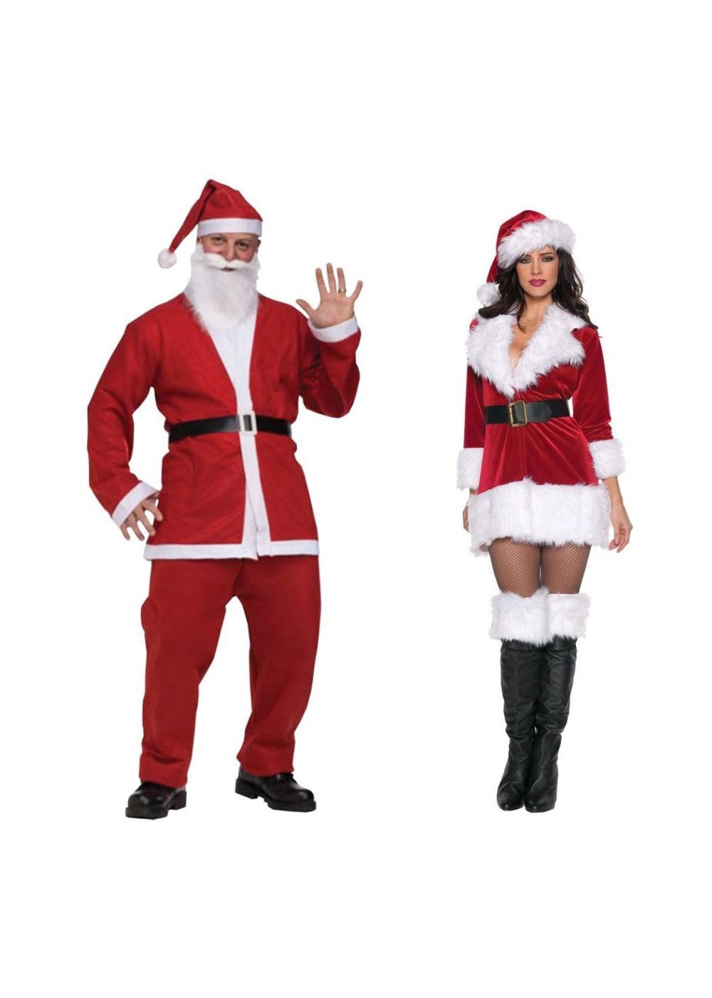 Santa Pub Crawl Men And Secret Santa Women Costume Set