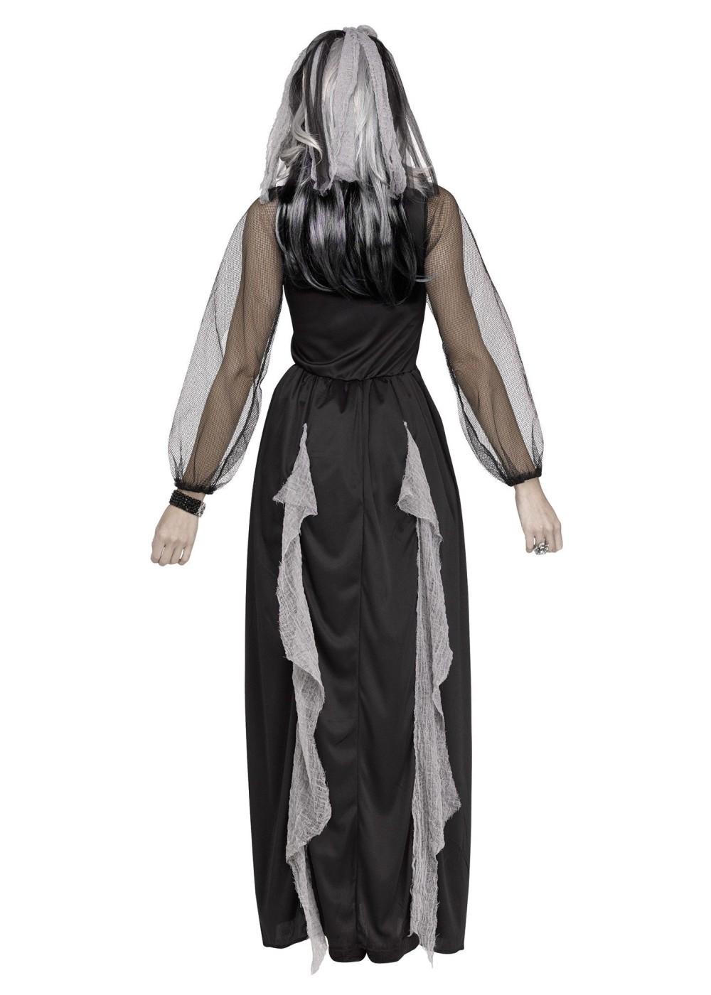 Skeleton Bride of the Night Women Costume