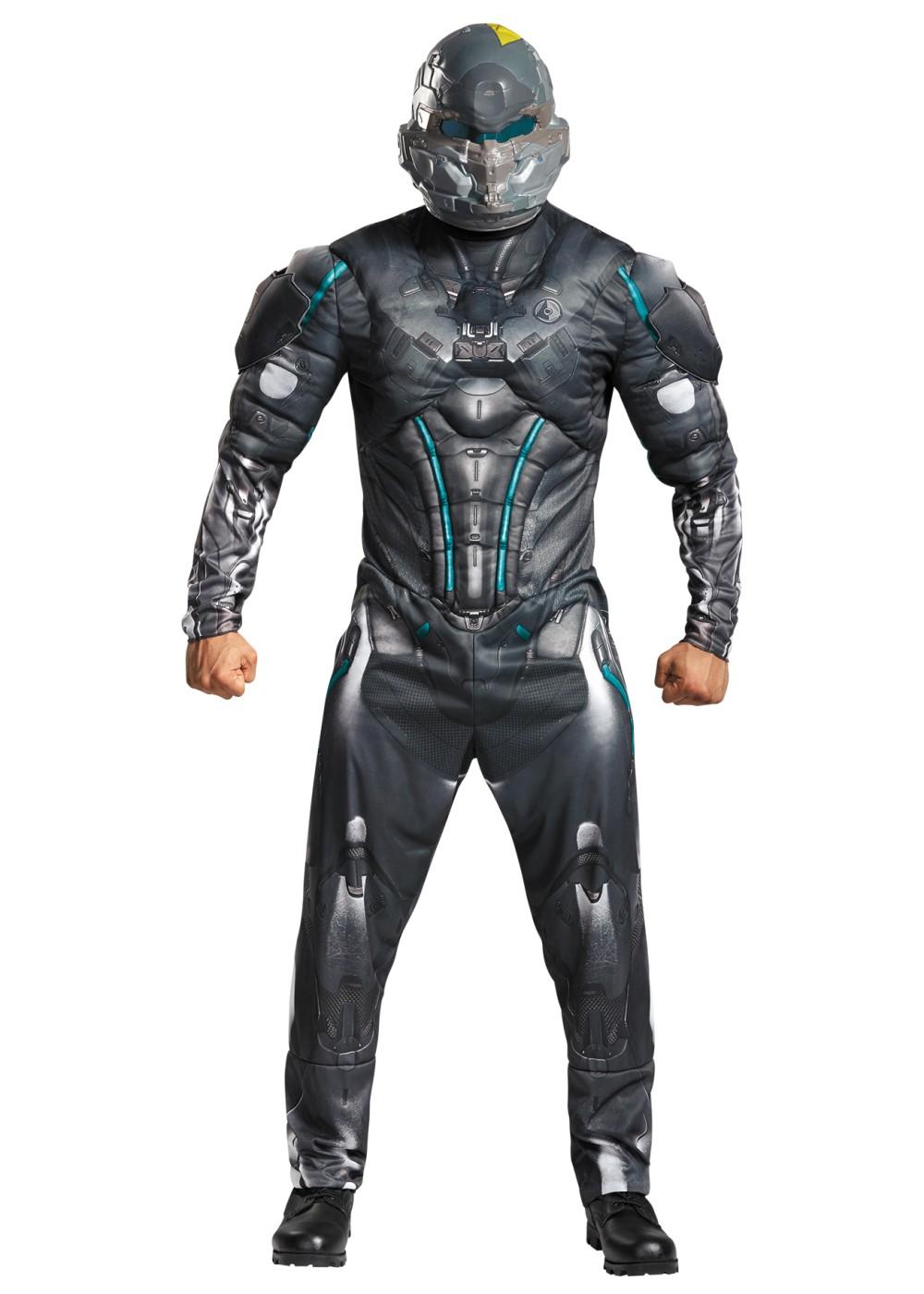 Spartan Locke Muscle Men Costume