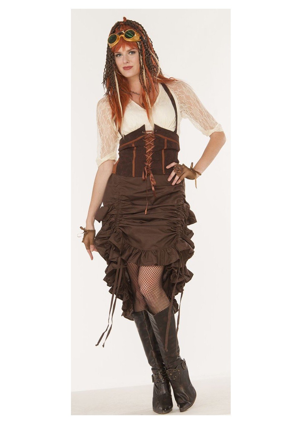 Steampunk Saloon Women Skirt Accessories