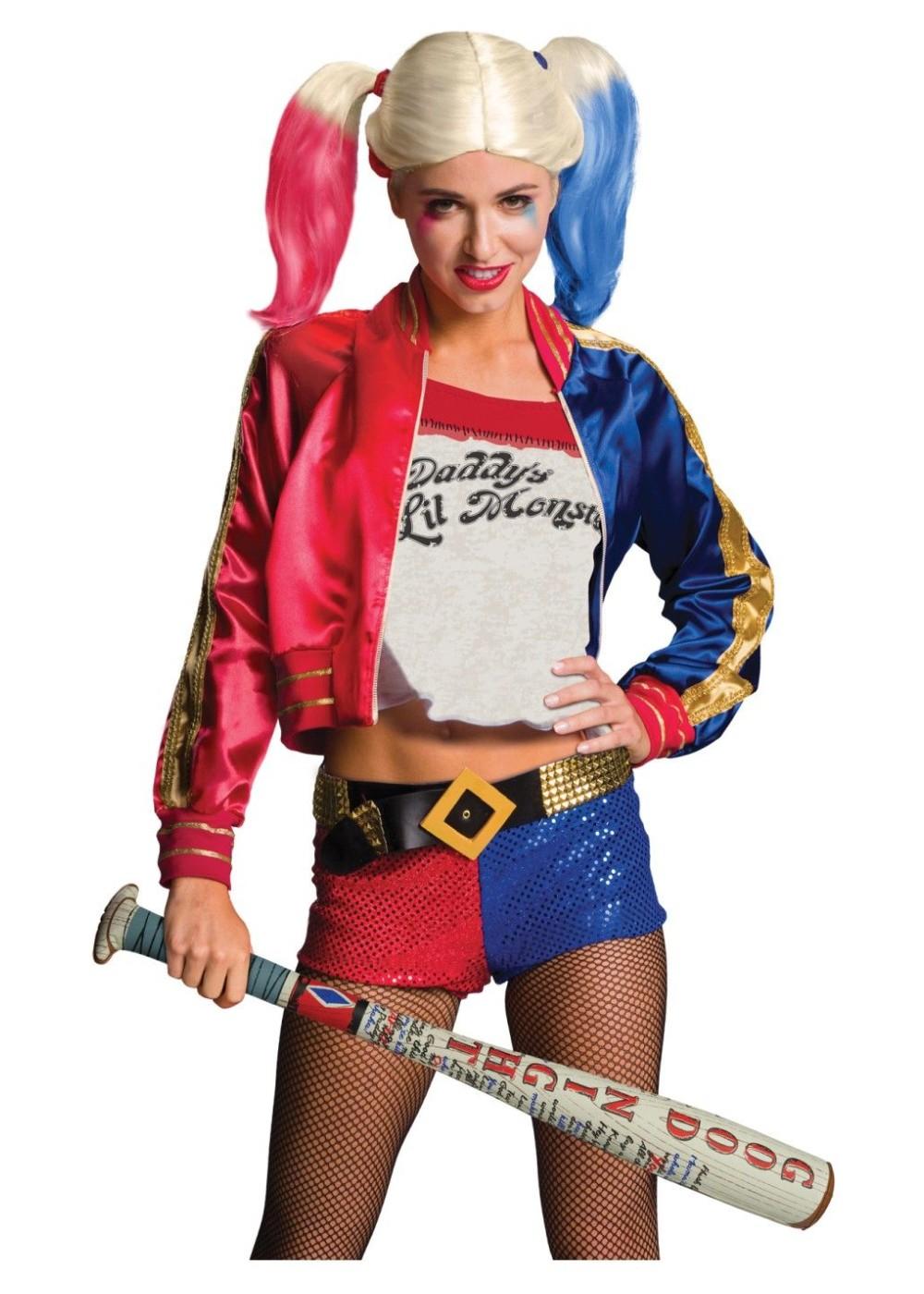 Suicide Squad Harley Quinn Wig Inflatable Bat Set