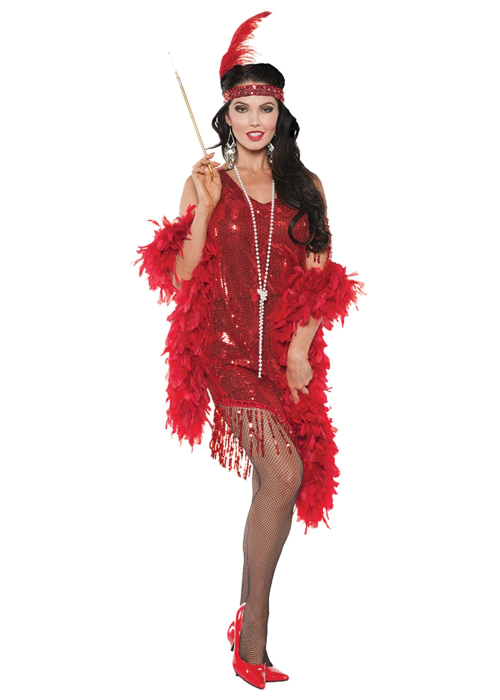 Swingin Red Flapper Women Costume