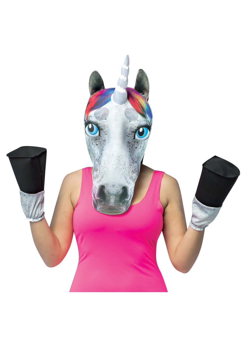 Unicorn Head Mask And Hooves
