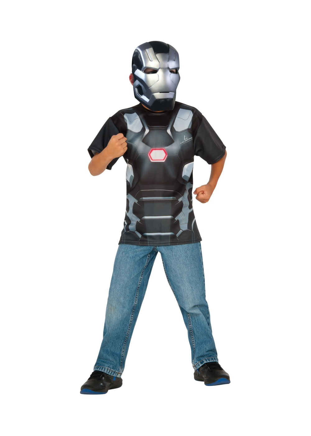 war machine shirt and mask boys set superhero costumes
