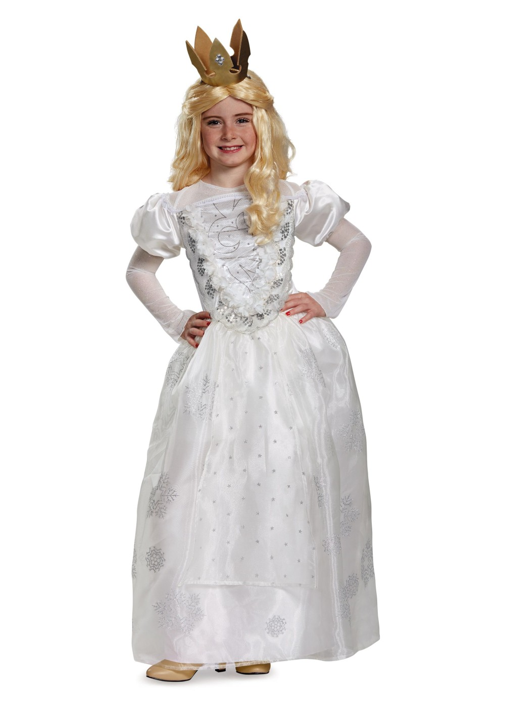 Toddler Girl Witch Costumes: White Queen Girl Costume
