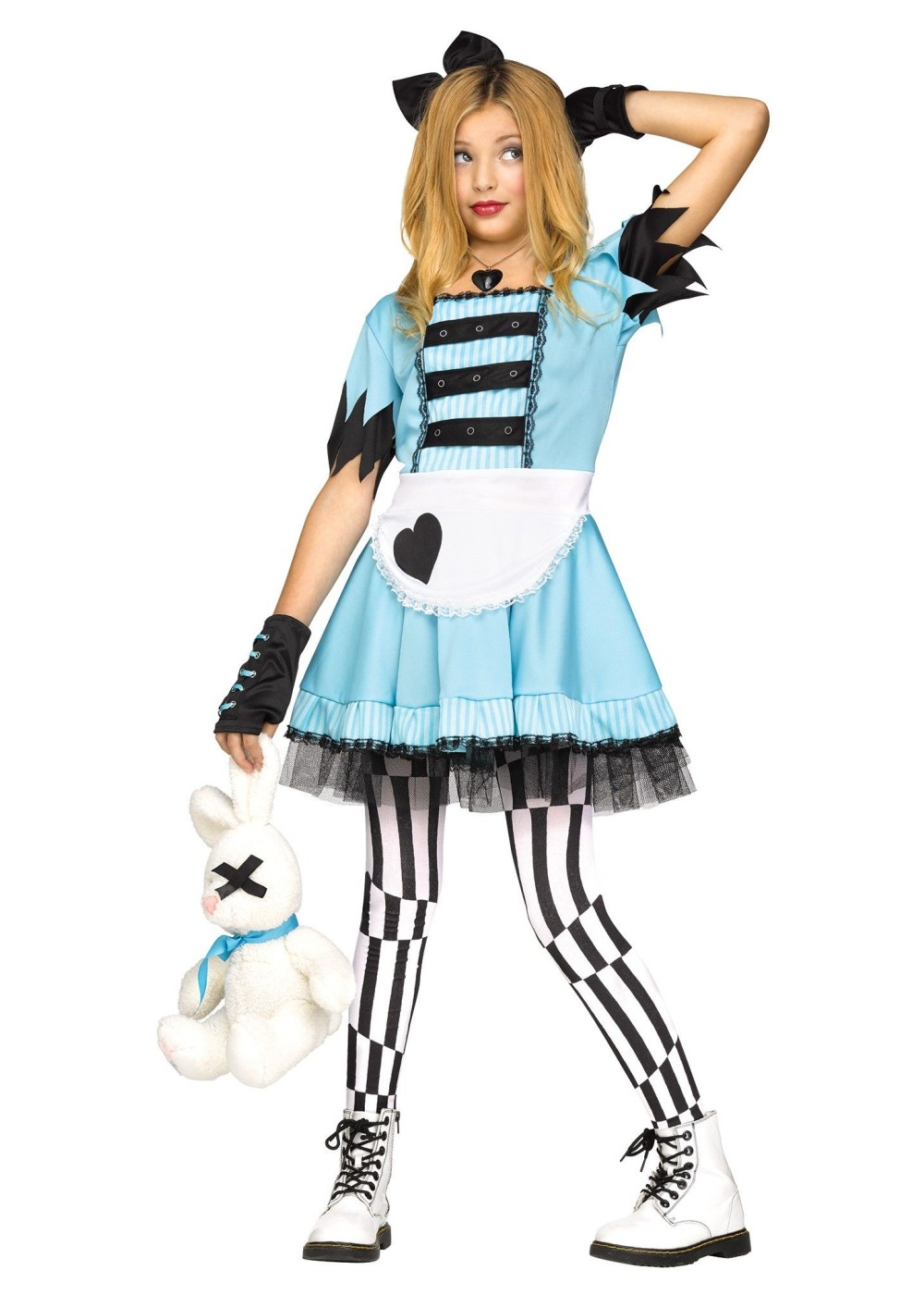 Wild alice in wonderland girls costume movie costumes for Cute halloween costumes for 12 year olds