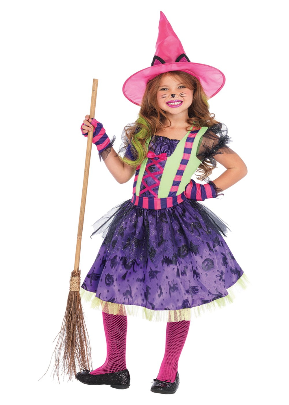 Kids Witch Girls Costume
