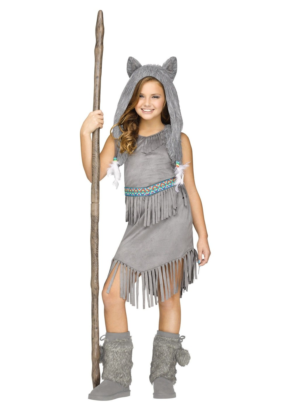 Fun World Girls Wild Wolfie Wolf Child Costume Size 12-14