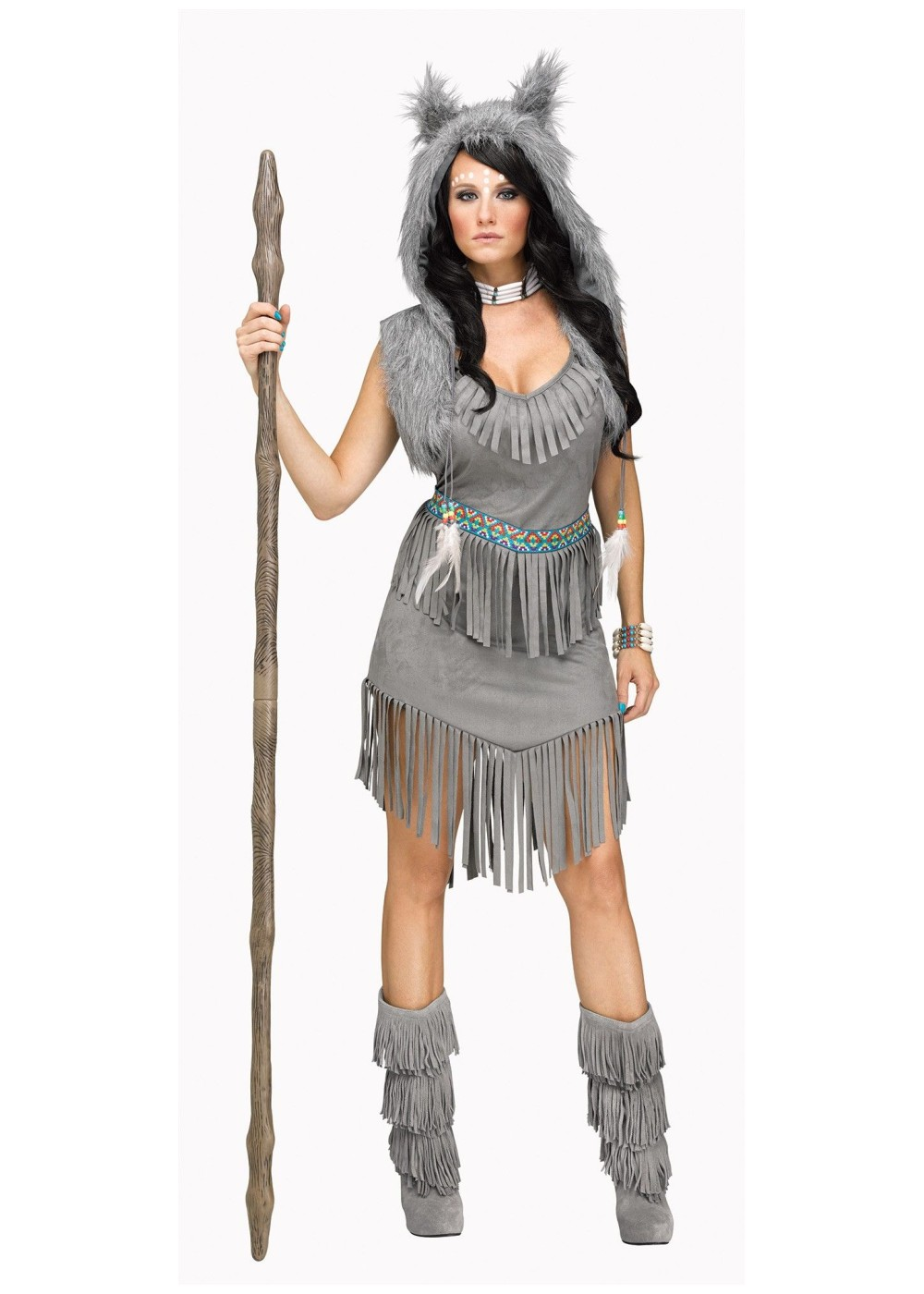 Wolf Dancer Indian Women Costume  sc 1 st  Wonder Costumes & Indian Costumes - Authentic Native American Costume
