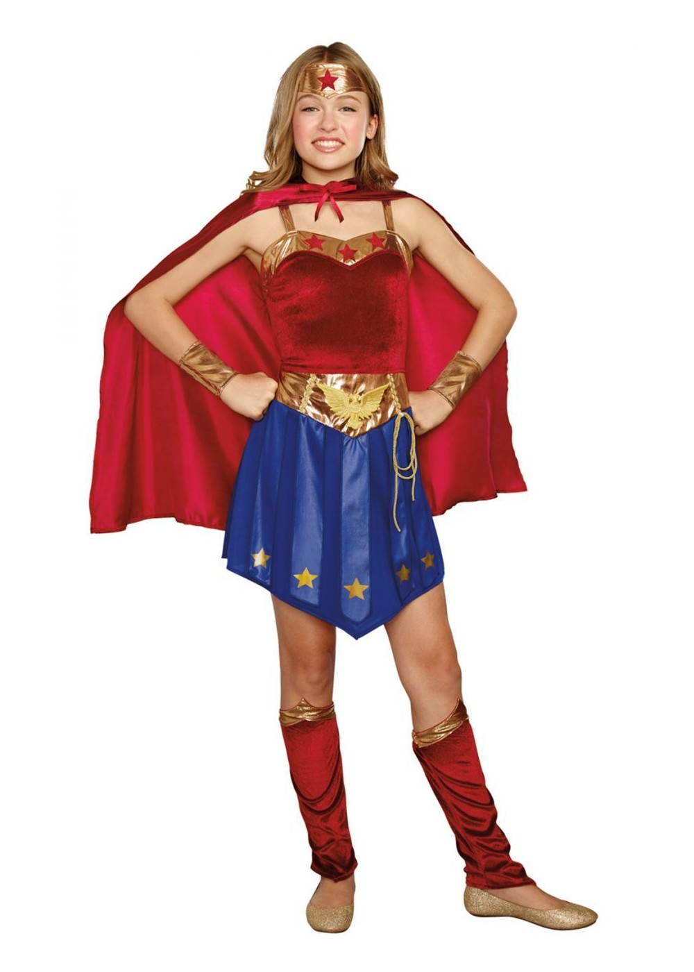 Wonder Cutie Tween Girls Superhero Costume on costume jewelry of the 1950s
