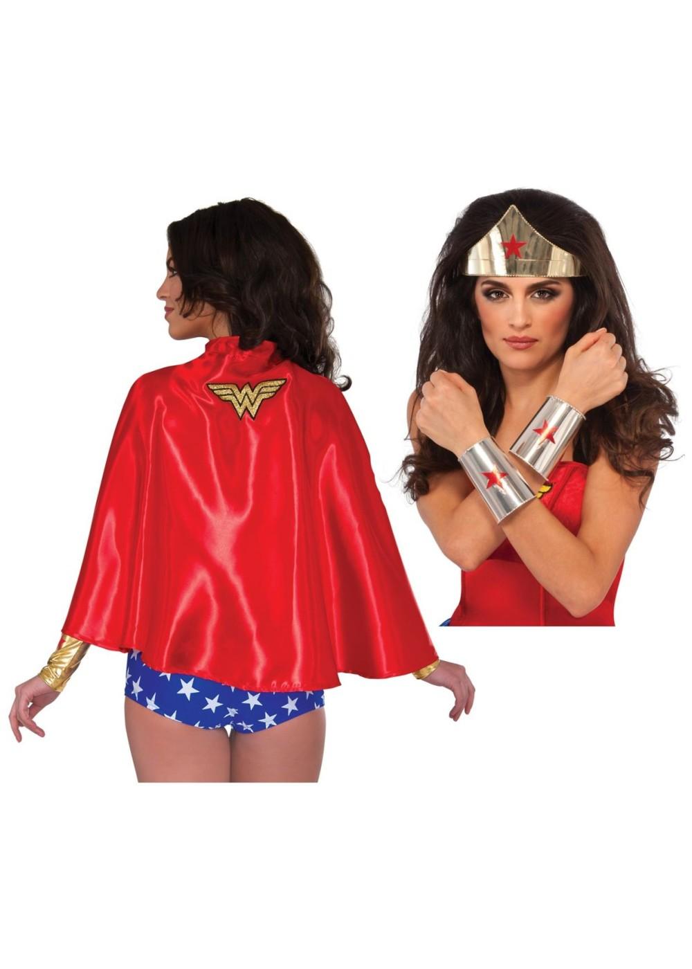 Wonder Woman Costume Kit With Cape - Superhero Costumes-2736