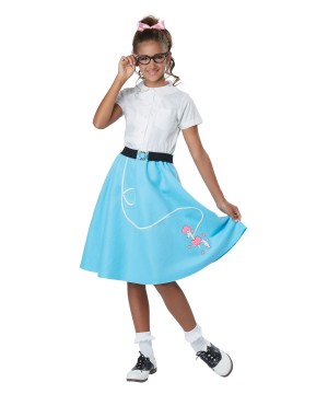 1950s Blue Poodle Girls Skirt