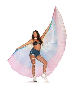 360 Degree Pleated Halter Isis Wings