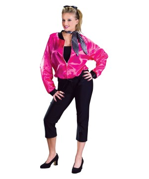 50s Rock N Roll Pink Women Jacket Costume