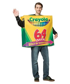64 Count Crayola Box Mens Tunic Costume