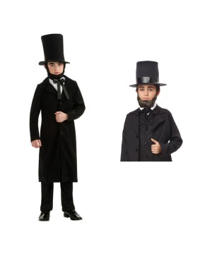 Abraham Lincoln Boys Costume and Beard Set