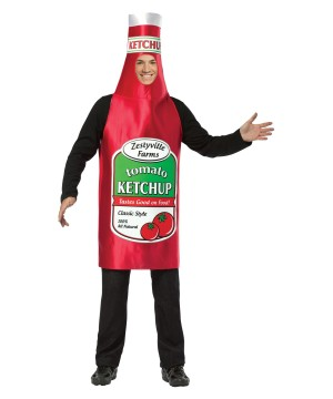 Adult Zestyville Farms Ketchup Costume