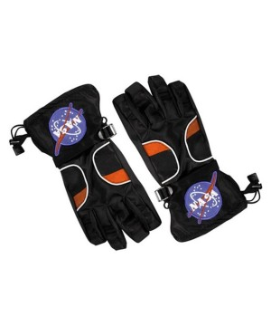 Astronaut Boys Black Costume Gloves
