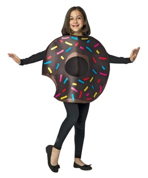 Bitten Chocolate Sprinkled Donut Girls Costume