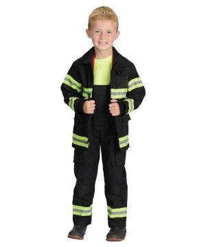 Black Firefighter Boys Costume
