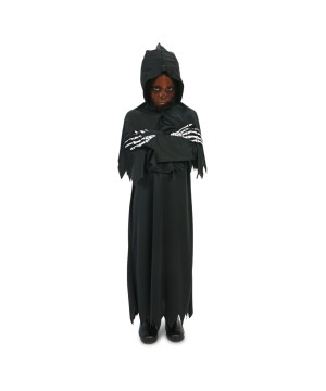 Black Hooded Grim Reaper Boys Costume