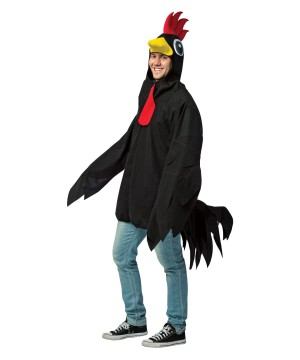 Black Rooster Mens Costume