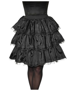 Black Ruffle Women Skirt