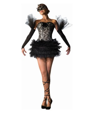 Black Swan Ballerina Women Costume
