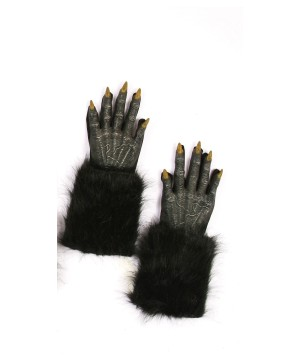 Black Werewolf Costume Gloves