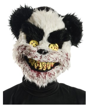 Bloody Black and White Teddy Bear Mask