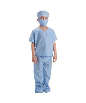 Blue Medical Doctors Scrubs Boys Costume