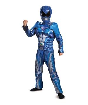 Blue Power Ranger Muscle Boys Movie Costume
