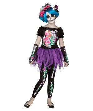 Day of the Dead Bones Girl Costume