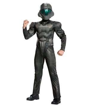 Boys Halo Spartan Buck Muscle Costume