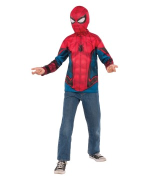 Boys Spiderman Shirt and Mask Set