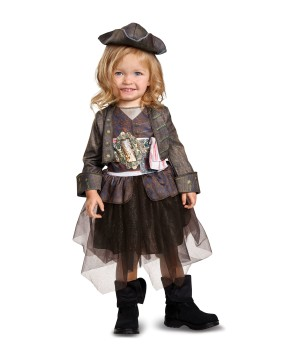 Captain Jack Sparrow Girls Toddler Costume
