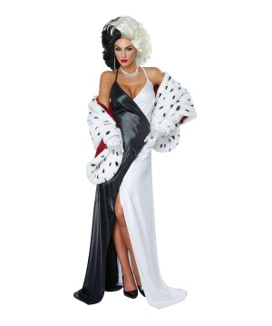 Cruel Diva Women Costume and Wig Set