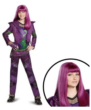 Disneys Descendants 2 Mal Girls Costume