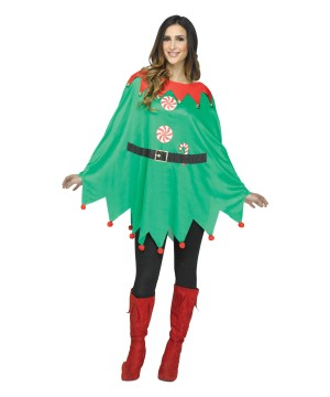 Elf Poncho Women Costume