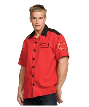 Fireman Shirt Costume - Adult Costume