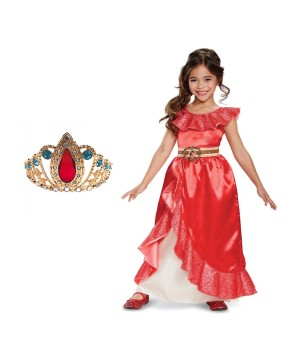 Elena of Avalor Girls Costume and Tiara