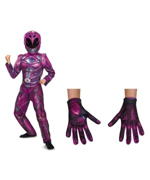 Girls Pink Power Ranger Costume Kit