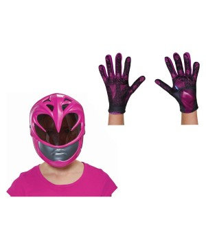 Pink Power Ranger Movie Girls Costume Kit