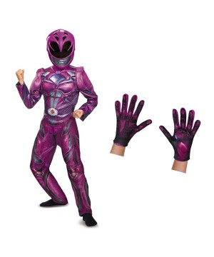 Pink Ranger Girls Movie Costume Kit