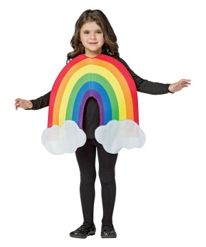 Girls Rainbow Costume
