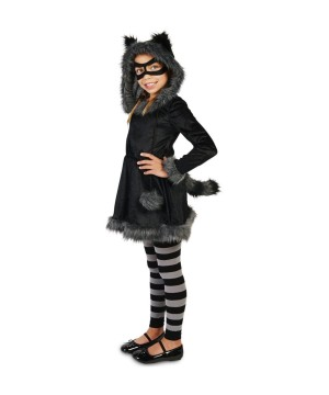 Girls Sneaky Raccoon Costume