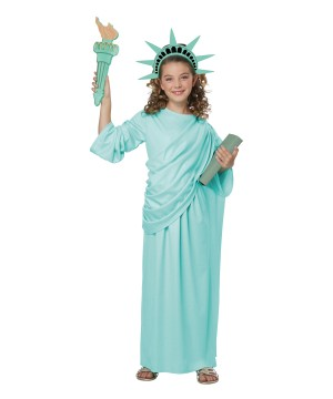 Statue of Liberty Girls Costume