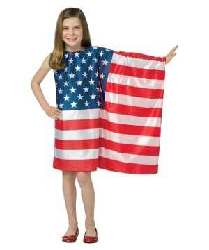 Girls Usa Flag Dress