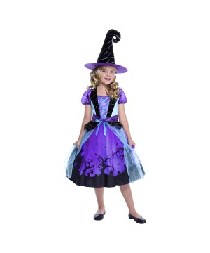 Purple Witch Girls Costume